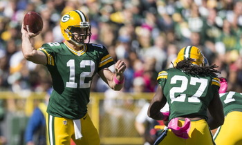 Aaron Rodgers was composed on Sunday.