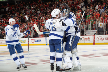 Ben Bishop had the Lightning celebrating after a tough contest against the defending Stanley Cup Champions. Similar performances could catapult him to the front of the pack.