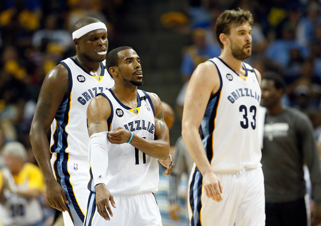 Zach Randolph, Mike Conley, and Marc Gasol