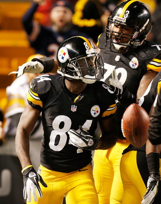 Antonio Brown leads the Steelers in receptions and yards.