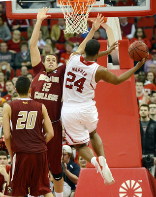 T.J. Warren goes in for a layup over Boston College's Ryan Anderson.