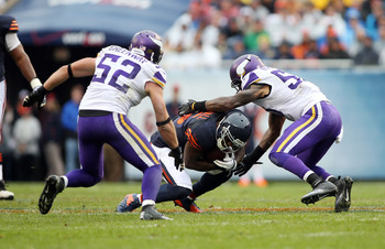 The Vikings linebacking corps has struggled with Erin Henderson moving to middle linebacker.