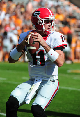Georgia senior quarterback Aaron Murray against Tennessee on Oct. 5.