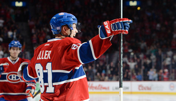 Montreal Canadiens forward Lars Eller.