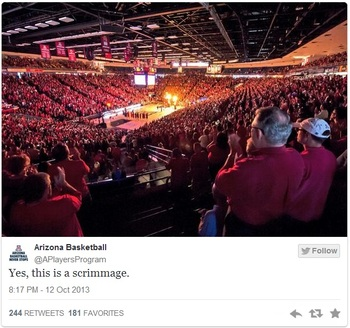 A scrimmage with almost four weeks to the regular season drew this type of crowd at McKale Center