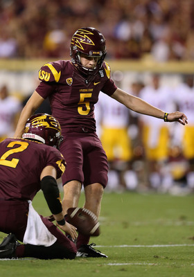 Zane Gonzalez has settled down and appears to be the kicker of the future for the Sun Devils.