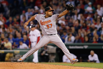 Francisco Rodriguez was traded from Milwaukee to Baltimore before the 2013 trade deadline.