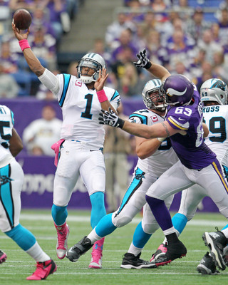Newton (1) had his first great game of the season against the Vikings in Week 6.