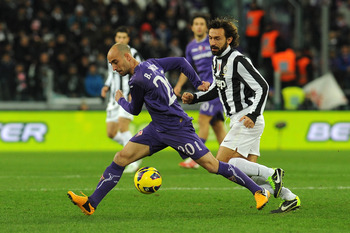 Pirlo and Valero battling in February.