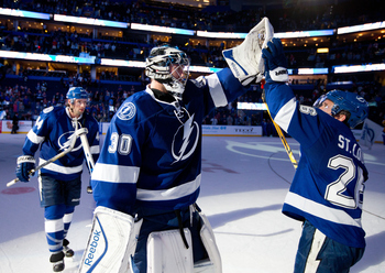Ben Bishop has been huge for the Lightning this season. His undefeated record has been fairly quiet.