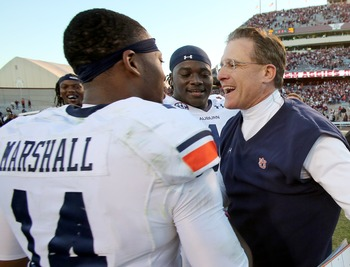 Auburn QB Nick Marshall and head coach Gus Malzahn