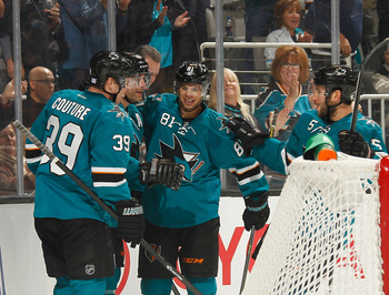 It doesn't get easier for opponents against the Sharks' second line.