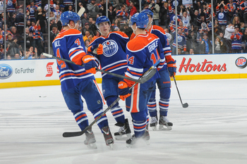 The trio of Hall, Nugent-Hopkins and Eberle have carried the load for the Oilers.