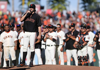Barry Zito thanks the fans for supporting him.