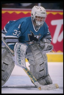 Arturs Irbe's shutout was one of the Sharks' few bright spots in 1992-93.
