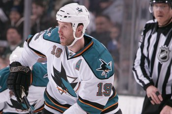 The Sharks won the Presidents' Trophy behind Joe Thornton's leadership.