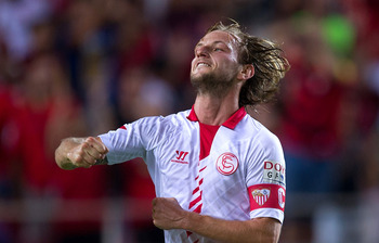 Ivan Rakitic was on target for Sevilla