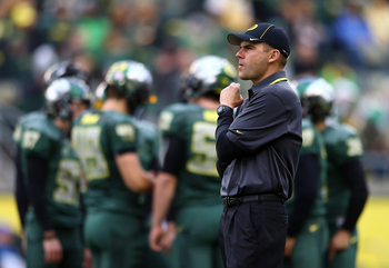 Oregon coach Mark Helfrich