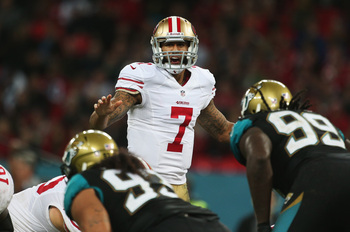 Colin Kaepernick seems to be getting better each week.