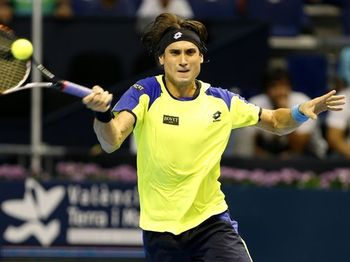 David Ferrer struggled in the final at Valencia 2013.