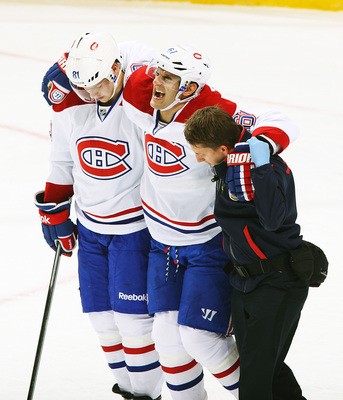 Max Pacioretty limps off against the Winnipeg Jets.
