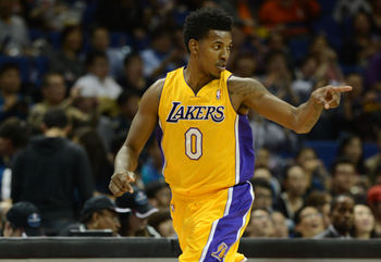 Nick Young of the LA Lakers