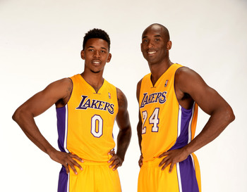 Nick Young and Kobe Bryant