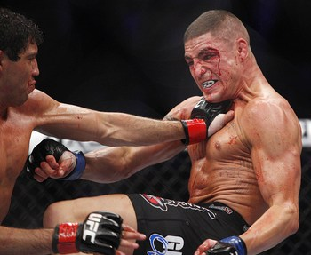 Melendez (left) and Sanchez waged an epic war at UFC 166.