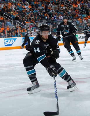 At just 26, Marc-Edouard Vlasic already has seven seasons under his belt and has yet to peak for San Jose.