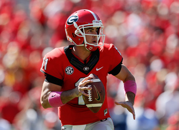 Senior Georgia quarterback Aaron Murray