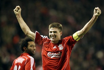 Football - Liverpool v Inter Milan UEFA Champions League Second Round First Leg  - Anfield, Liverpool, England - 19/2/08