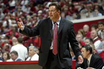 07 November 2008: Indiana head coach Tom Crean as the Indiana Hoosiers played the Anderson University Ravens in a college basketball game in Bloomington, Ind.