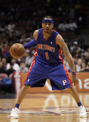 November 7, 2008: Allen Iverson scored 24 points in his Detroit Piston debut, but it was not enough as his new team lost to New Jersey 103-96, East Rutherford