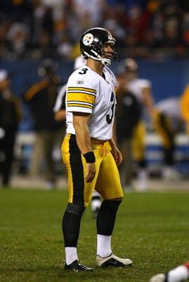 CHICAGO - SEPTEMBER 20: Jeff Reed #3 of the Pittsburgh Steelers reacts after missing his second field goal of the game against the Chicago Bears on September 20, 2009 at Soldier Field in Chicago, Illinois. The Bears defeated the Steelers 17-14. (Photo by