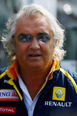 MONZA, ITALY - SEPTEMBER 13:  Renault F1 Team Principal Flavio Briatore is seen in the paddock during the Italian Formula One Grand Prix at the Autodromo Nazionale di Monza on September 13, 2009 in Monza, Italy.  (Photo by Clive Rose/Getty Images)