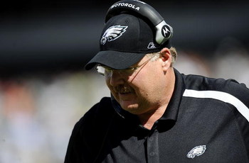 PHILADELPHIA - SEPTEMBER 20:  Andy Reid, head coach of the Philadelphia Eagles walks the sidelines during a game against the New Orleans Saints at Lincoln Financial Field on September 20, 2009 in Philadelphia, Pennsylvania.  (Photo by Jeff Zelevansky/Gett