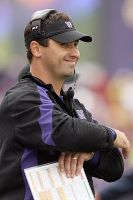 SEATTLE - SEPTEMBER 19:  Head coach Steve Sarkisian of the Washington Huskies watches the action during the game against the USC Trojans on September 19, 2009 at Husky Stadium in Seattle, Washington. The Huskies defeated the Trojans 16-13. (Photo by Otto