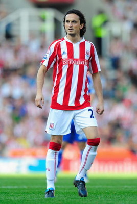 STOKE ON TRENT, ENGLAND - SEPTEMBER 12:  Tuncay of Stoke City in action during the Barclays Premier League match between Stoke City and Chelsea at the Britannia Stadium on September 12, 2009 in Stoke on Trent, England. (Photo by Michael Regan/Getty Images