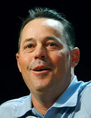LAS VEGAS - DECEMBER 08:  Four-time Cy Young Award winning pitcher Greg Maddux announces his retirement from Major League Baseball during a news conference at the league's Winter Meetings at the Bellagio December 8, 2008 in Las Vegas, Nevada.  (Photo by E