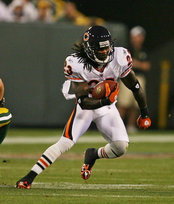 GREEN BAY, WI - SEPTEMBER 13: Devin Hester #23 of the Chicago Bears runs against the Green Bay Packers on September 13, 2009 at Lambeau Field in Green Bay, Wisconsin. The Packers defeated the Bears 21-15. (Photo by Jonathan Daniel/Getty Images)