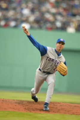 6 May 2001:  Pitcher Chris Carpenter #26 of the Toronto Blue Jays winds back for the pitch during the game against the Seattle Mariners at Safeco Field in Seattle, Washington. The Blue Jays defeated the Mariners 11-3.Mandatory Credit: Otto Greule Jr  /All
