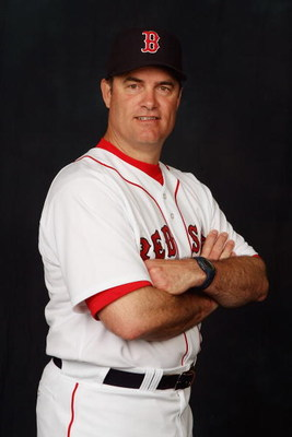 FORT MYERS, FL - FEBRUARY 24:  John Farrell poses for a portrait during the Boston Red Sox Photo Day at the Red Sox spring training complex on February 24, 2007 in Fort Myers, Florida. (Photo by Nick Laham/Getty Images)
