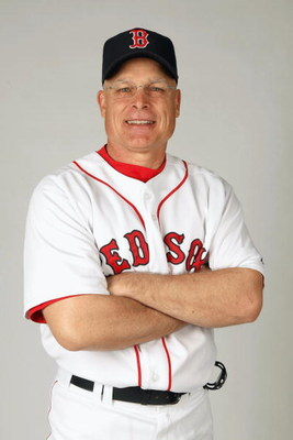 FORT MYERS,FLORIDA - FEBRUARY 22:  Brad Mills #2 of the Boston Red Sox poses during photo day at the Red Sox spring training complex on February 22, 2009 in Fort Myers, Florida. (Photo by: Nick Laham/Getty Images)