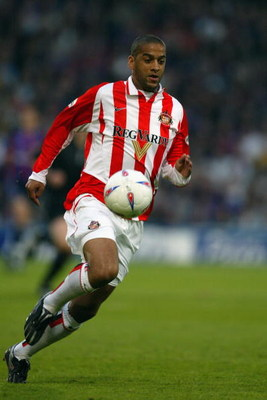 LONDON - MAY 14: Phil Babb of Sunderland during the Nationwide Division One Playoff Semi Final 1st leg match between Crystal Palace and Sunderland at Selhurst Park on May 14. 2004 in London.  (Photo by Ian Walton/Getty Images)