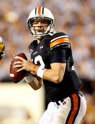 AUBURN, AL - SEPTEMBER 19:  Quarterback Chris Todd #12 of the Auburn Tigers against the West Virginia Mountaineers at Jordan-Hare Stadium on September 19, 2009 in Auburn, Alabama.  (Photo by Kevin C. Cox/Getty Images)