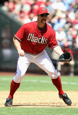 PHOENIX - APRIL 12:  Infielder Chad Tracy #18 of the Arizona Diamondbacks in action during the game against the Los Angeles Dodgers at Chase Field on April 10, 2009 in Phoenix, Arizona. The Diamondbacks defeated the Dodgers 9-4.  (Photo by Christian Peter