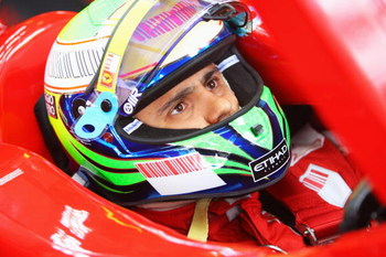BUDAPEST, HUNGARY - JULY 25:  Felipe Massa of Brazil and Ferrari prepares to drive during the final practice session prior to qualifying for the Hungarian Formula One Grand Prix at the Hungaroring on July 25, 2009 in Budapest, Hungary.  (Photo by Mark Tho