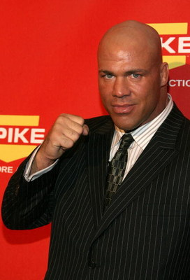 LAS VEGAS - DECEMBER 07:  Pro wrestler Kurt Angle arrives at Spike TV's 2007 'Video Game Awards' at the Mandalay Bay Events Center on December 7, 2007 in Las Vegas, Nevada.  (Photo by Frazer Harrison/Getty Images)