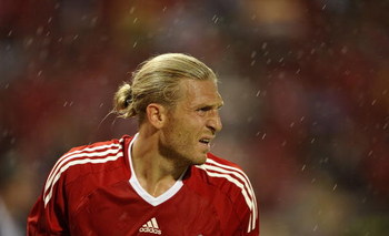 BANGKOK, THAILAND - JULY 22:  Andriy Voronin of Liverpool looks on during their pre-season friendly match against Thailand at the Rajamangala National Stadium on July 22, 2009 in Bangkok, Thailand.  (Photo by Victor Fraile/Getty Images)