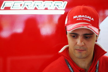 SAO PAULO, BRAZIL - OCTOBER 17:  Felipe Massa of Brazil and Ferrari is seen during the rain delayed final practice session prior to qualifying for the Brazilian Formula One Grand Prix at the Interlagos Circuit on October 17, 2009 in Sao Paulo, Brazil.  (P